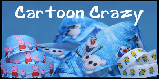 cartoon ribbon, minion ribbon, pepa pig ribbon Frozen ribbon