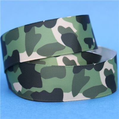 Camouflage Ribbon - Multi Green