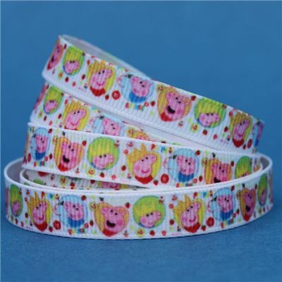 Peppa Pig Ribbon - 9mm Peppa