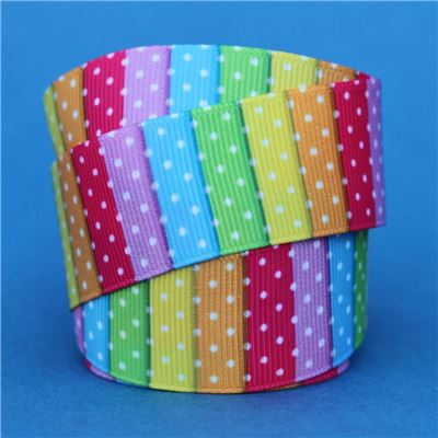Striped Ribbon - with Swiss Dots