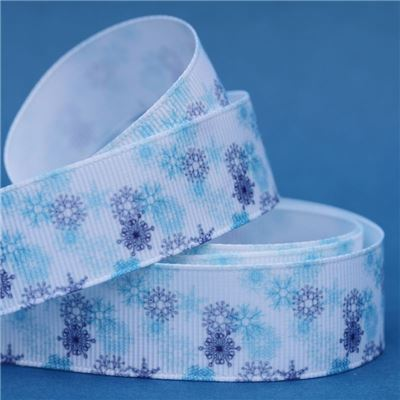 Frozen Ribbon - Blue Snowflakes