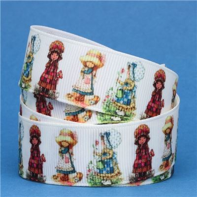 Sun Bonnet Sue Ribbon - Sue White