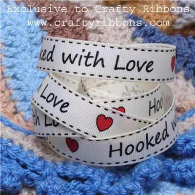 Crochet Ribbon - Hooked with Love Ant. white