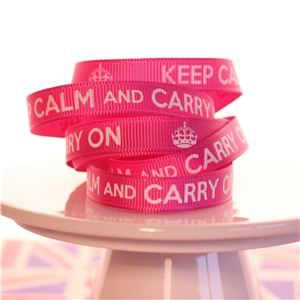 Keep Calm Ribbons - Queen Pink