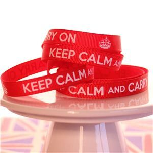 Keep Calm Ribbons - Guards Red
