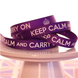 Keep Calm Ribbons - Regal Purple