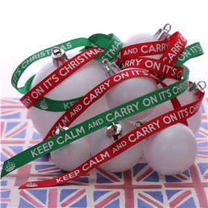 Keep Calm Christmas Ribbons - Elf Green