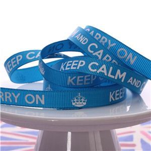 Keep Calm Ribbons - Turquoise Gemstone