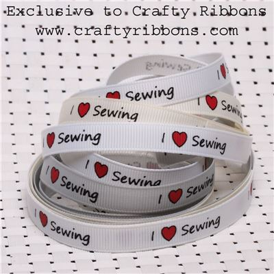 Love Sewing Ribbon - I love Sewing