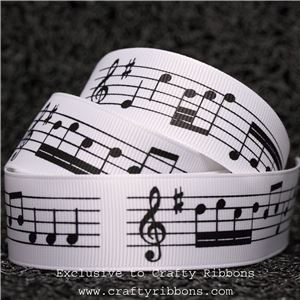 Music Ribbon - 25mm Music