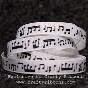 Music Ribbon - 9mm Music Notes