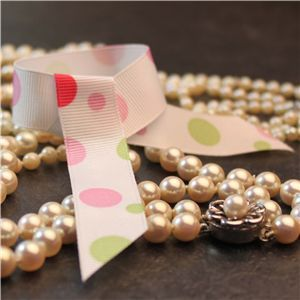 Bauble Grosgrain Ribbon - Sherbet