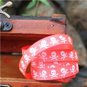 Pirate Ribbon -Narrow Skull & CB/Neon