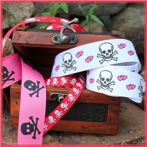 skull and cross bone ribbons