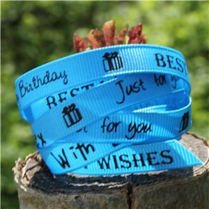 Sentiment Birthday Ribbon - Island Blue