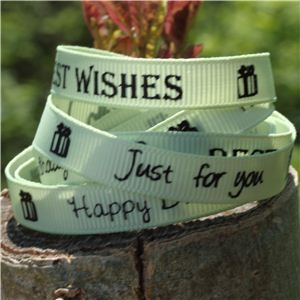 Sentiment Birthday Ribbon - Lime Juice