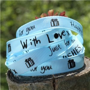 Sentiment Birthday Ribbon - Lt Blue