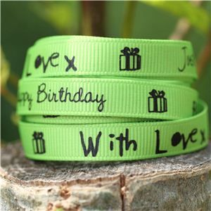 Sentiment Birthday Ribbon - Apple Green