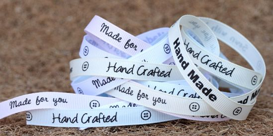 hand made sentiment ribbons
