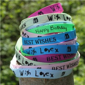 Sentiment Birthday Ribbon - WANT IT ALL