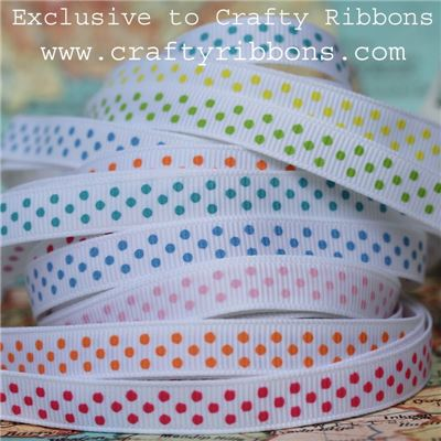 Grosgrain Ribbon - Swiss Dot SUMMER WANT IT ALL