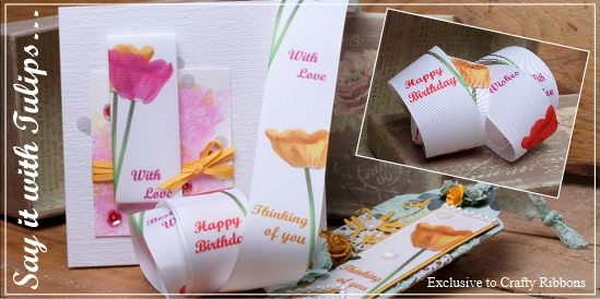 tulip message ribbon