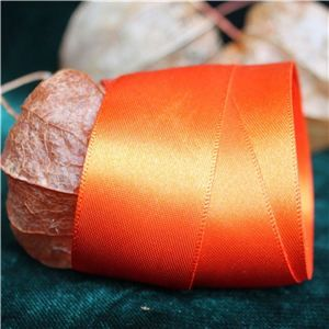 Halloween Ribbon - 25mm Satin Orange