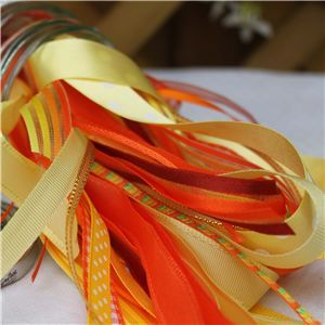 Jam Pot Ribbons - Tawny Orange