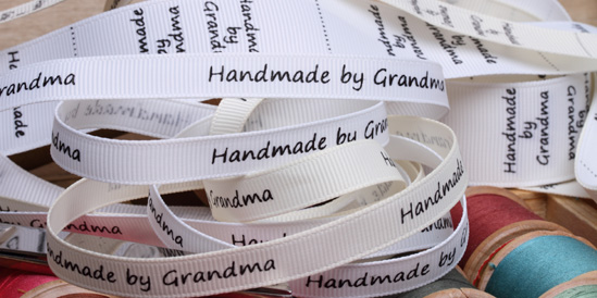 handmadeby grandma ribbon labels