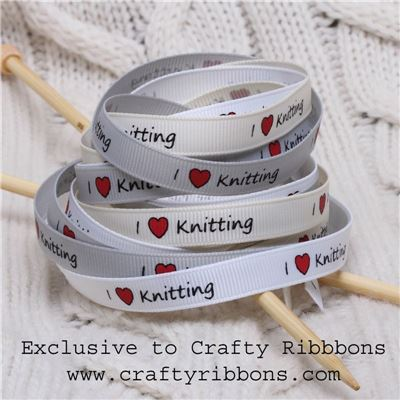 Knit Ribbon - I love Knitting