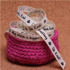 Knit Ribbons - 10mm Sentiment Cream