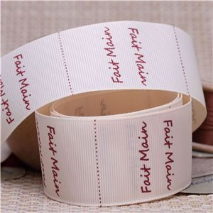 Handmade Ribbon Label - Fait Main/Cream