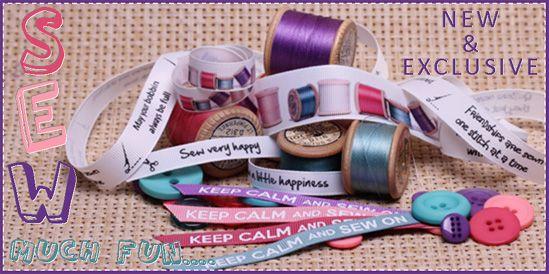 sew ribbons