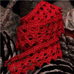 Clermont Cotton Lace - Red