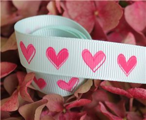 16mm Single Heart Ribbon - Crystalline
