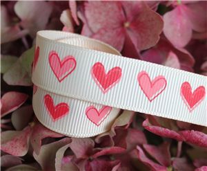 16mm Single Heart Ribbon - Nude