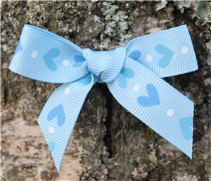 Love Heart Ribbon - Blue Topaz