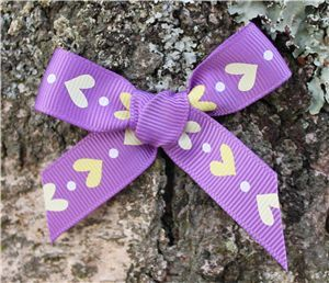 Love Heart Ribbon - Grape