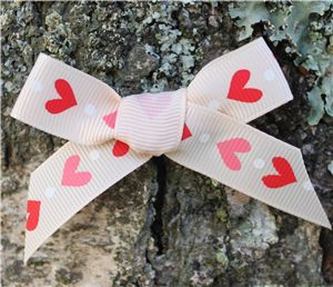 Love Heart Ribbon - Nude