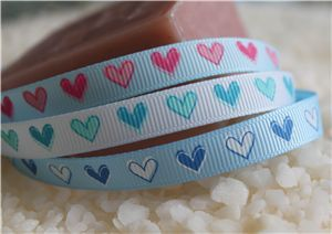 single heart grosgrain ribbon