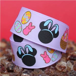 Mouse Head  Ribbon - Easter Lilac