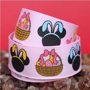 Mouse Head  Ribbon - Easter Pink