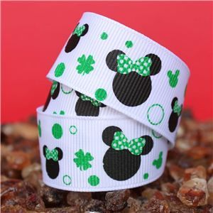 Mouse Head  Ribbon - Lucky