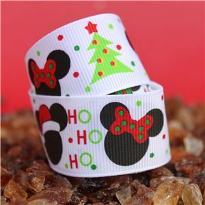 Mouse Head  Ribbon - Christmas