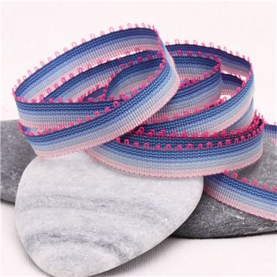 7mm Ombre Ribbon - Blue to Pink