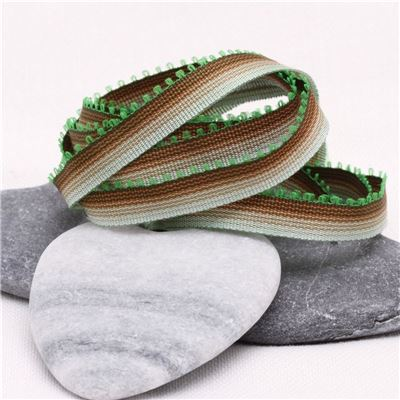 7mm Ombre Ribbon - Chocolate to Mint