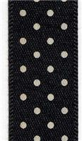 15mm Micro Dot Ribbon - Black