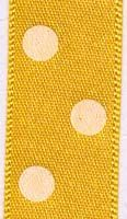 15mm Polka Dot Ribbon - Gold
