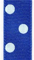 15mm Polka Dot Ribbon - Dark Royal