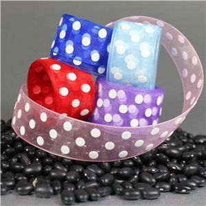 sheer polka dot ribbon, sherr puff dot ribbon